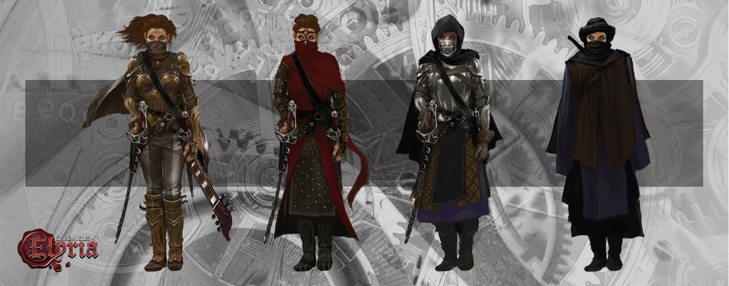 Character of Lore, Naomi Jade, shown wearing multiple of her disguises
