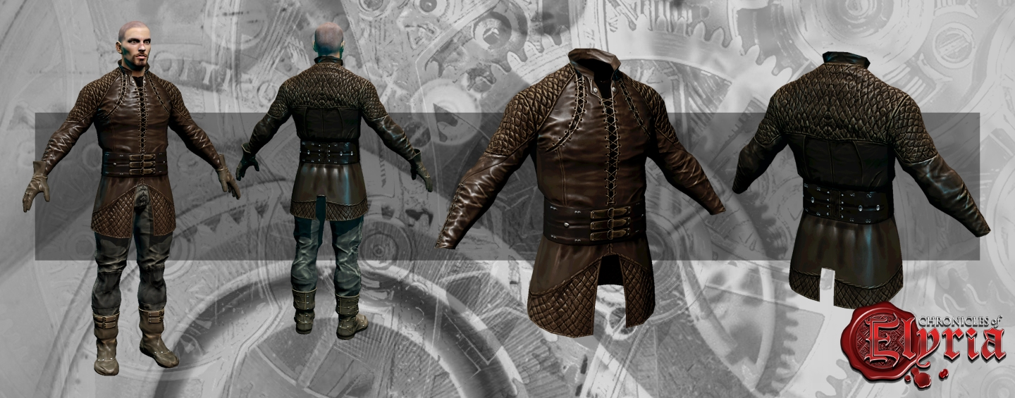 Render of equipment layer 2 – leather jerkin
