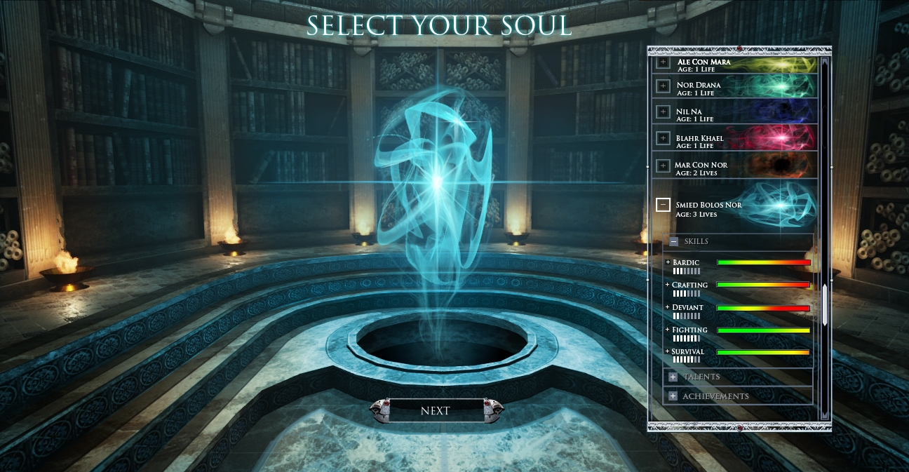 Figure 1 - Soul Selection