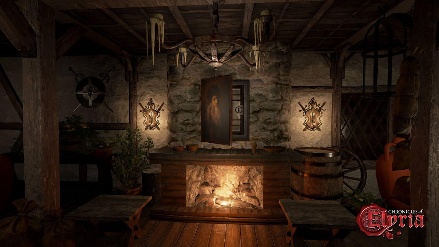 In-game screenshot of a hidden safe