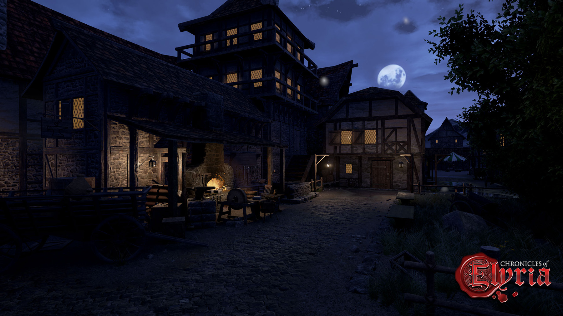 The forge at night