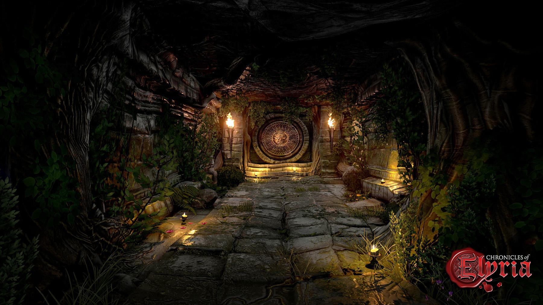 In-game screenshot of an underground tunnel
