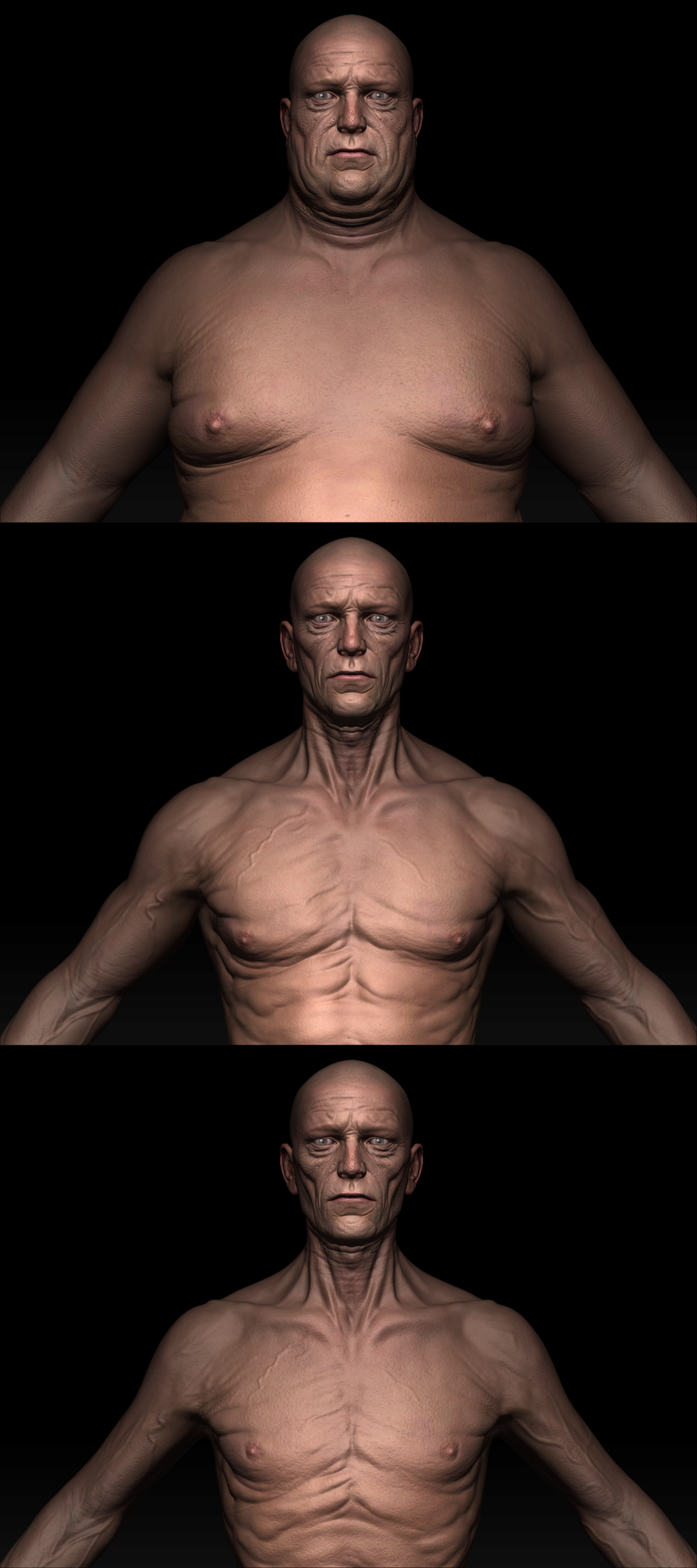 Dynamic older male model