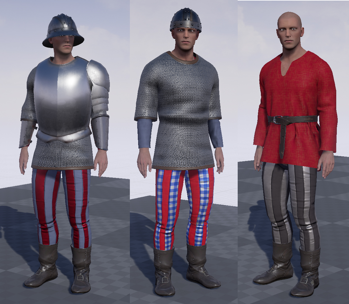 Different clothing configurations