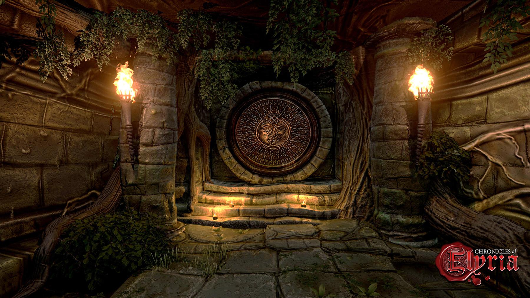 In-game screenshot of an underground vault