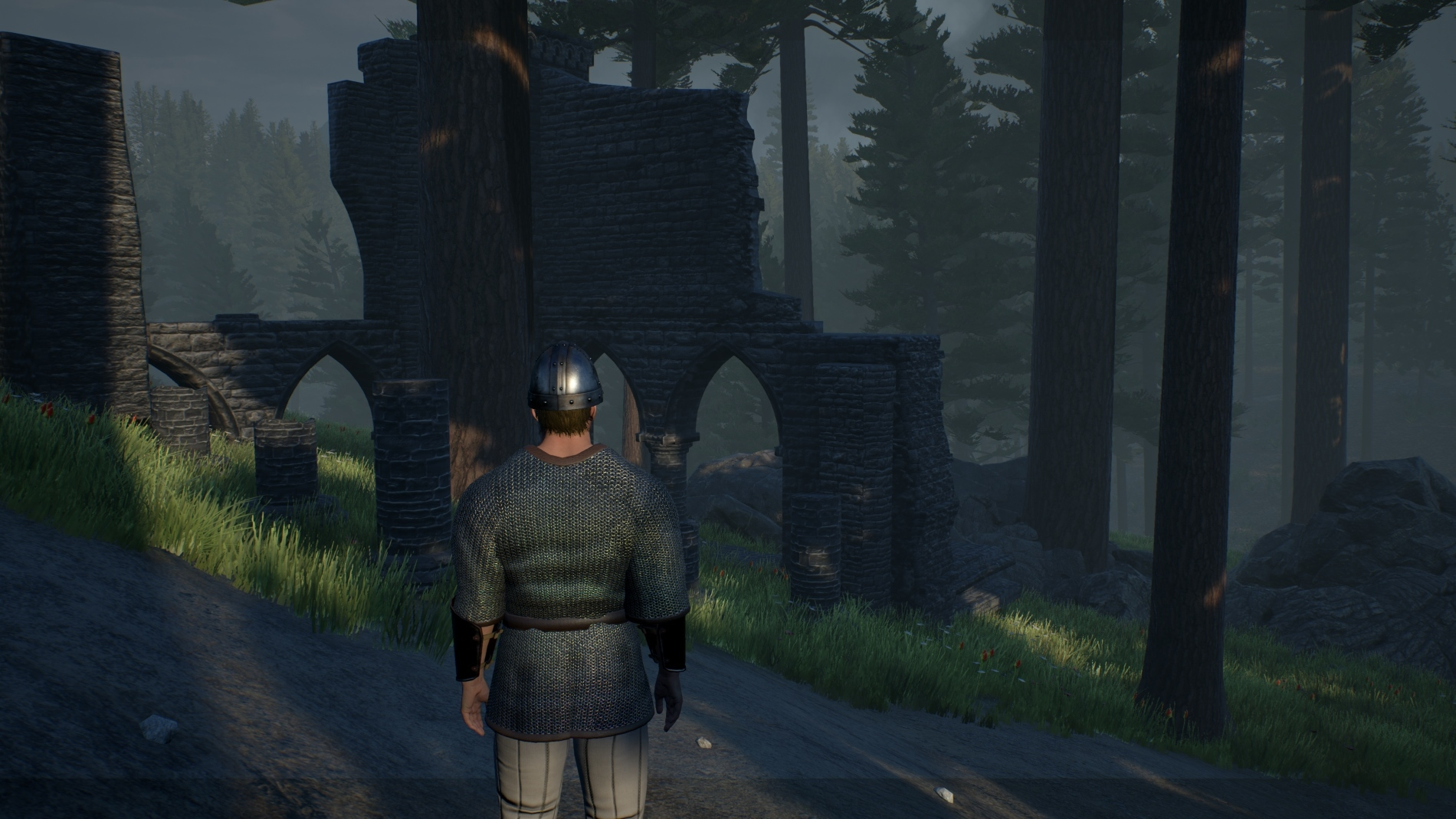 Tosker encounters a ruin after reaching the road to New Haven