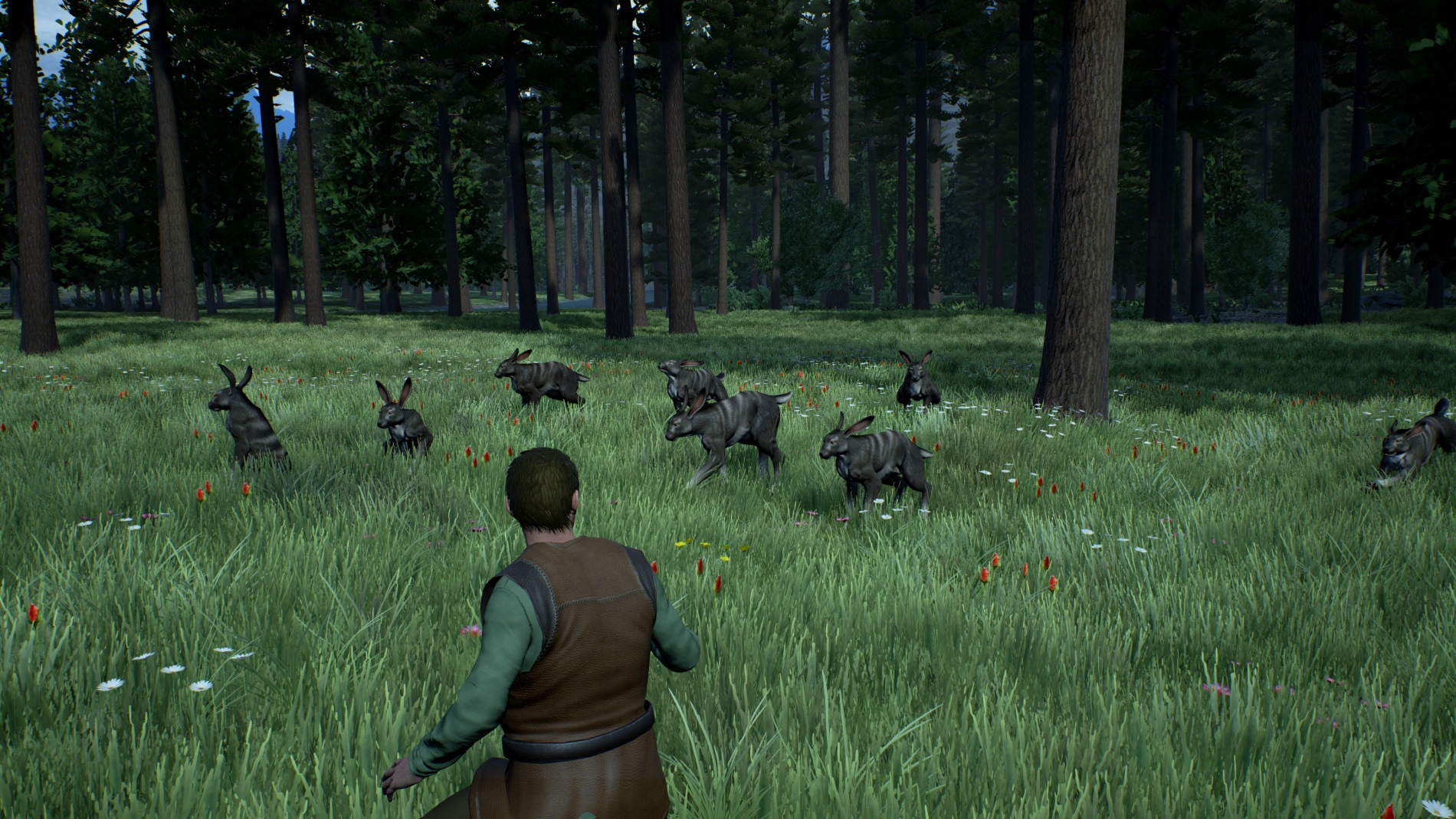 Fleyt encounters a pack of canis rabbits